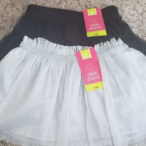 💗Toddler girl💗: Two tutus, black and silver